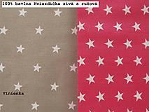 Úžitkový textil - Sivé a ružové HVIEZDIČKY návliečky do postieľky Obojstranné obliečky 100% bavlna - 8363686_