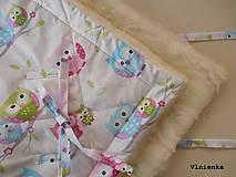 Textil - Klasická zavinovačka pre novorodenca zimná 100% MERINO TOP Sovička - 8364944_