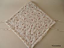 Textil - Klasická zavinovačka pre novorodenca zimná 100% MERINO TOP Macko smotanový - 8364972_
