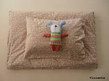Textil - Bodkované obliečky do postieľky 100% bavlna BODKA režná - 8365049_