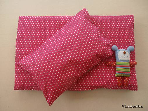 Ružové HVIEZDIČKY obliečky do postieľky 100% bavlna na mieru