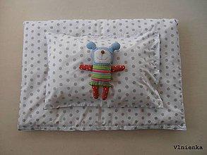 Úžitkový textil - Obliečky/ návliečky do postieľky 100% bavlna na mieru BODKA béžová - 8363655_