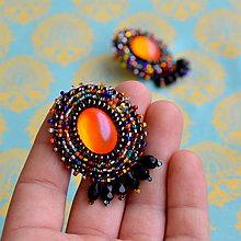 Náušnice - Oriental Melange n.4 - vyšívané náušnice - 8362531_