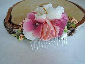Ozdoby do vlasov - Hrebienok ružový - 8364148_