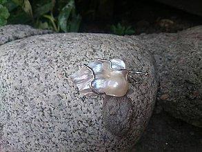 Odznaky/Brošne - brošňa s perleťou - 8364818_