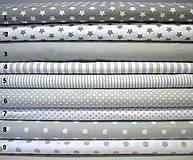 Textil - Bavlnená látka - kombinácia svetlo šedá - 8363656_