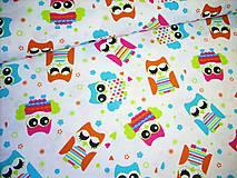 Textil - Bavlnená látka detská - sovičky - 8363755_