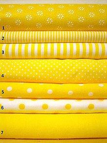 Textil - Bavlněná látka - kombinace žlutá - 8363647_