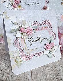 Papiernictvo - Svadobná pohľadnica - 8362458_
