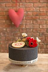 Krabičky - dekoračý box/ svadobná torta Maková - 8362924_
