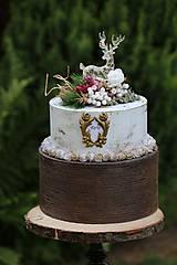 Krabičky - dekoračný box / svadobná torta Jeleň - 8363035_