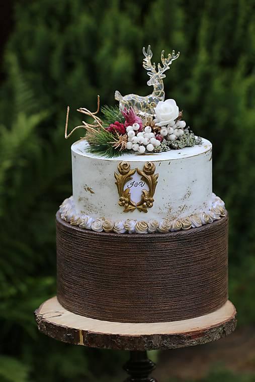 dekoračný box / svadobná torta Jeleň