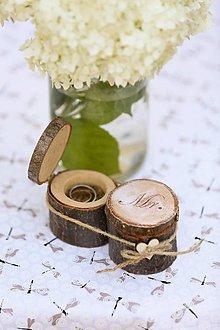 Prstene - krabička na svadobné prstienky Mr.& Mrs. - 8363174_