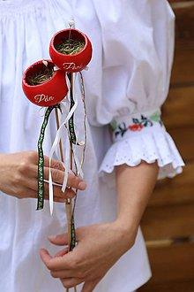 Prstene - podnos na svadobé prstienky Pán a Pani - 8363250_