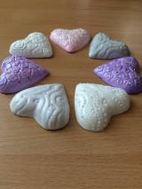 Darčeky pre svadobčanov - Handmade magnetka srdiecko, rozne druhy, cena za 1 kus - 8364049_