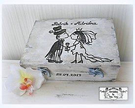 Krabičky - Svadobná krabica s veselym motívom