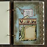 Papiernictvo - XXXL Luxusný country vidiecky receptár 2 - 8363054_