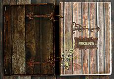 Papiernictvo - XXXL Luxusný country vidiecky receptár 2 - 8363057_