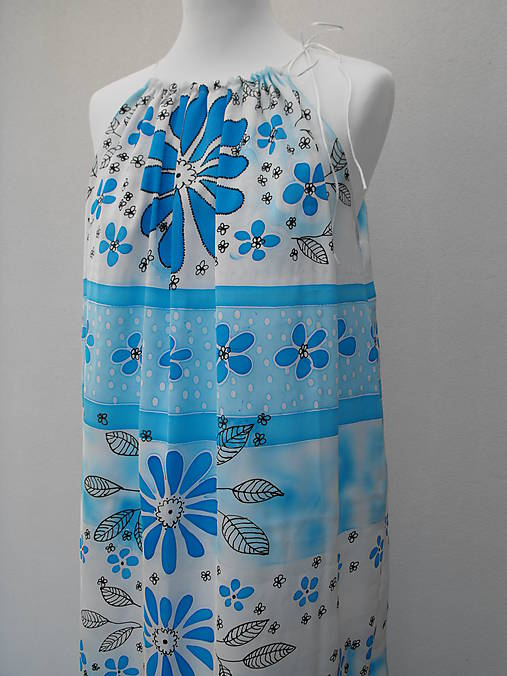 1bb43172037a Letné šaty modré - 60%   Cherie-Cherie - SAShE.sk - Handmade Šaty