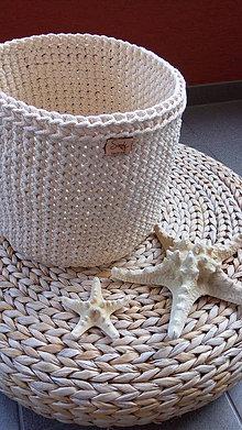 Košíky - Košík natural 100% bavlna - 8363659_