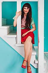 - Ľahučká letná sukňa s drobnými bodkami - 8365813_
