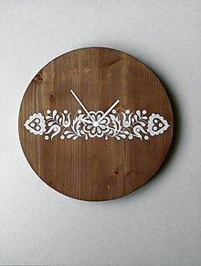 Hodiny - Na dreve maľované • hodiny - 8367862_