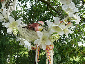 Dekorácie - Veniec Vtáčik - 8366020_