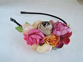 Ozdoby do vlasov - Čelenka ružovkavá - 8366549_