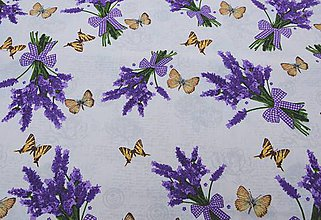 Textil - Motýľ a levanduľa - 8366873_