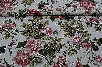 Textil - Ruža na béžovom - 8366899_