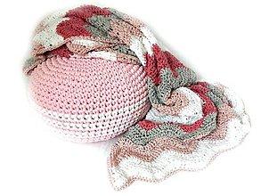 Úžitkový textil - Háčkovaná DEKA púdrová - 8365651_