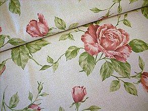 Textil - Poťahovka - veľké ruže - 8366811_