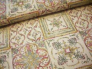 Textil - Poťahovka - falošný patchwork \
