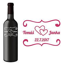 Darčeky pre svadobčanov - Svadobná etiketa Mia - Vyrezávané etikety, Svadobné etikety, Etikety na víno, Vinylové etikety, Etikety na fľaše, Nálepky na víno - 8367707_