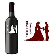 Darčeky pre svadobčanov - Svadobná etiketa Zoe - Vyrezávané etikety, Svadobné etikety, Etikety na víno, Vinylové etikety, Etikety na fľaše, Nálepky na víno - 8367724_