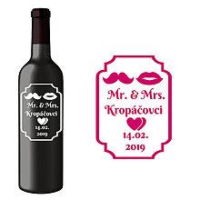 Darčeky pre svadobčanov - Svadobná etiketa Janis - Vyrezávané etikety, Svadobné etikety, Etikety na víno, Vinylové etikety, Etikety na fľaše, Nálepky na víno - 8367726_