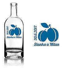 Darčeky pre svadobčanov - Svadobná etiketa Plum - Slivovica - Vyrezávané etikety, Svadobné etikety, Etikety na víno, Vinylové etikety, Etikety na fľaše, Nálepky na víno - 8367755_
