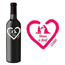 Darčeky pre svadobčanov - Svadobná etiketa Katniss - Vyrezávané etikety, Svadobné etikety, Etikety na víno, Vinylové etikety, Etikety na fľaše, Nálepky na víno - 8367783_