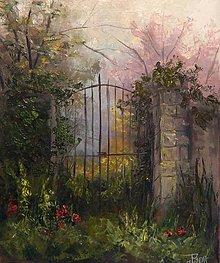 Obrazy - Tajemná záhrada - 8365506_