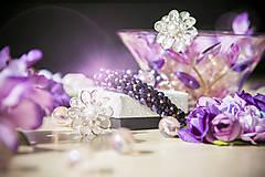 Náramky - Luxusný perličkový náramok - Fialový sen - 8366525_