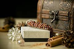 Náramky - Luxusný perličkový náramok - Škoricový zázrak - 8367762_