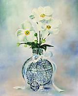 Obrazy - Sasanky biele - 8366169_