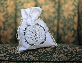 Iné tašky - svadobný mešec na peniaze - 8366101_
