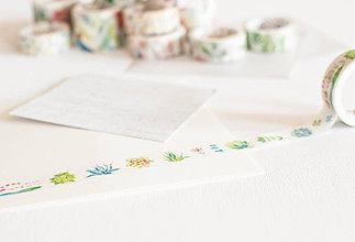 """Papier - WASHI / papierová páska na tvorenie """" agáve"""" - 8365343_"""