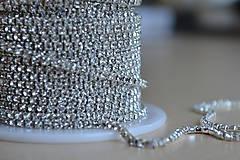 Galantéria - Štrasová borta crystal clear 2mm, 0.30€/10cm - 8366162_