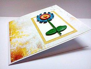 Papiernictvo - Pohľadnica ... Tvoja margarétka - 8369252_