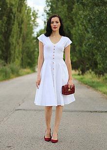 Šaty - Biele s gombíkmi ZĽAVA - 8368088_