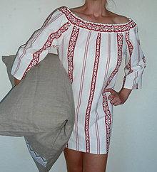 Košele - Košeľa Sťa červená výšivka - 8369260_