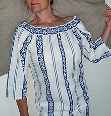 Košele - Košeľa Sťa modrá výšivka - 8369304_