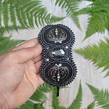 Ozdoby do vlasov - Voyage en Arabie  - Black silver - vyšívaná čelenka - 8369463_